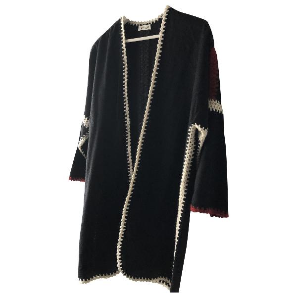 Masscob Black Wool Coat