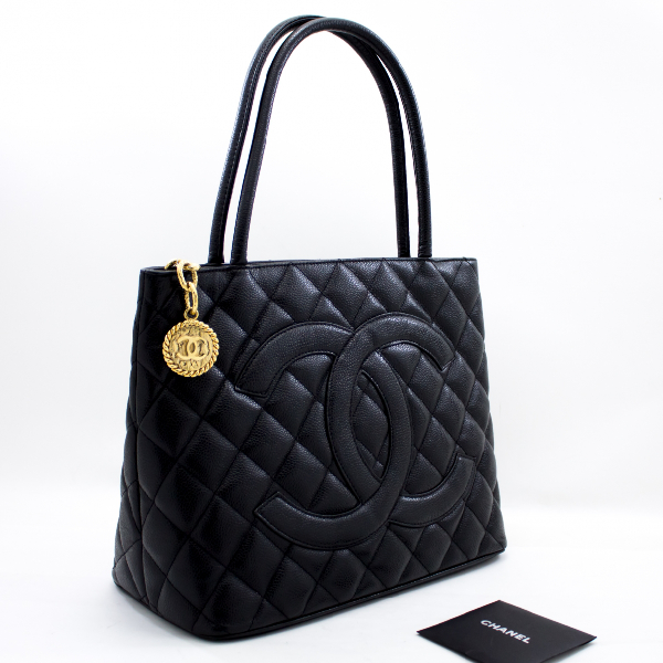 Chanel MÉdaillon Black Leather Handbag