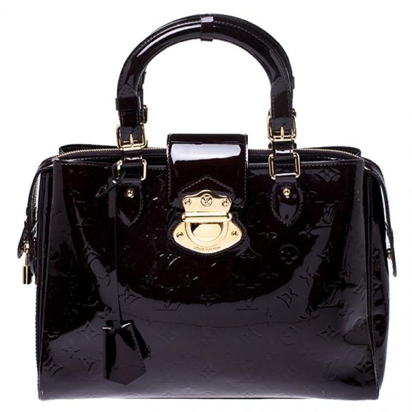 Louis Vuitton Melrose Burgundy Patent Leather Handbag
