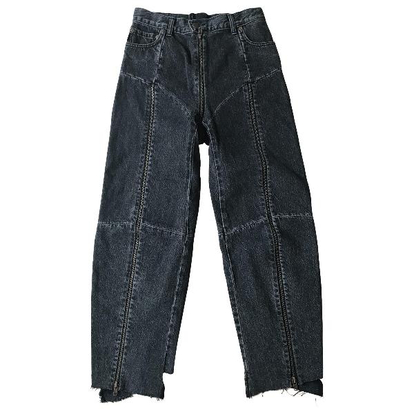 Vetements Anthracite Cotton Jeans