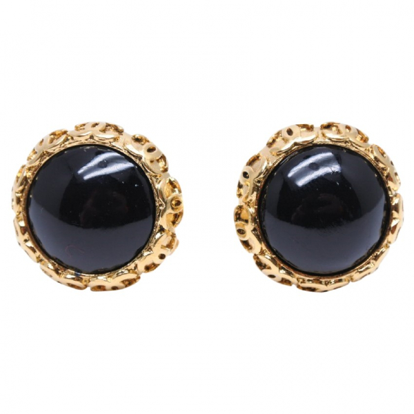 Chanel Gold Gold Plated Earrings