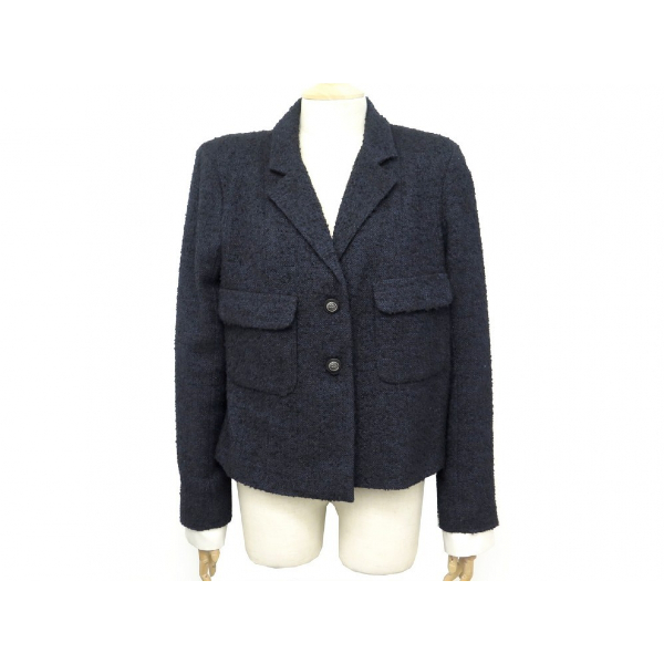 Chanel Navy Tweed Jacket