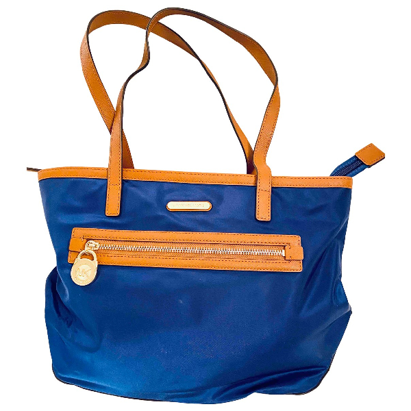 Michael Kors Blue Cloth Handbag