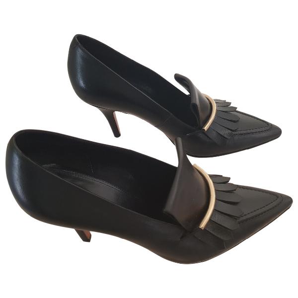 Celine Black Leather Heels