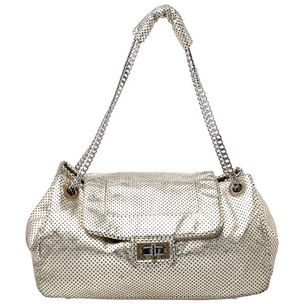 Chanel 2.55 Gold Leather Handbag