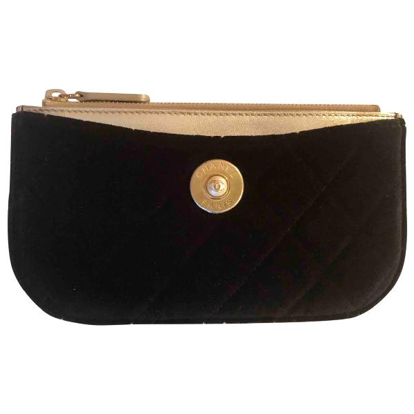 Chanel Black Velvet Purses, Wallet & Cases