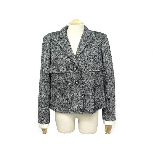 Chanel Grey Tweed Jacket