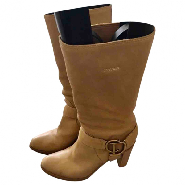 Dior Beige Leather Boots