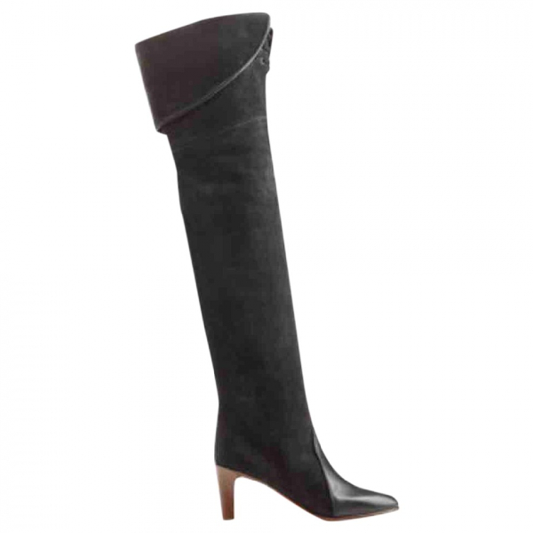 ChloÉ Anthracite Suede Boots