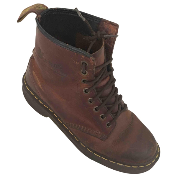Dr. Martens Brown Leather Ankle Boots