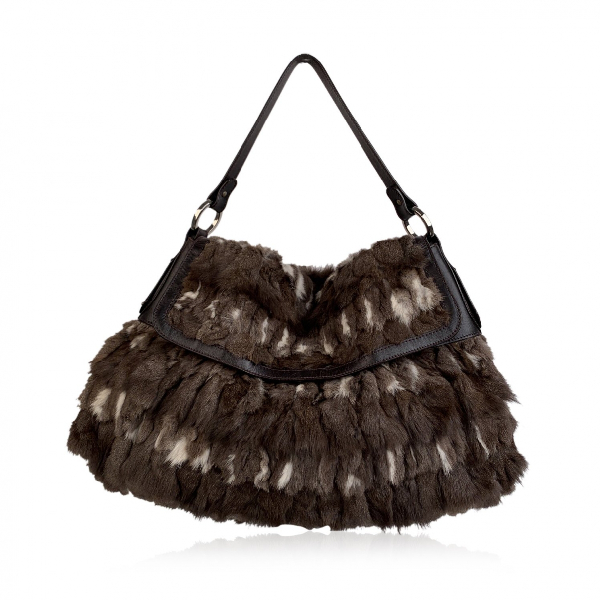 Fendi Brown Fur Handbag