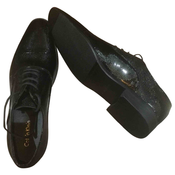 Calvin Klein Black Leather Lace Ups