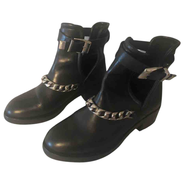 Sandro Black Leather Boots