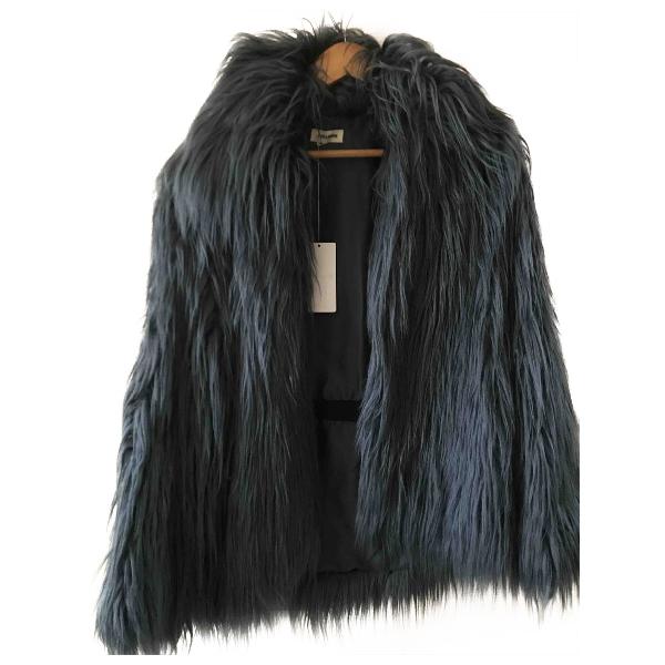 Zadig & Voltaire Blue Faux Fur Coat