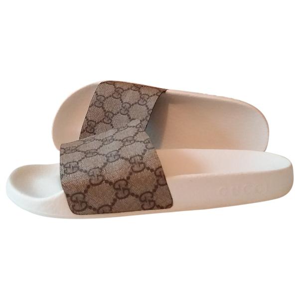 Gucci Beige Rubber Sandals