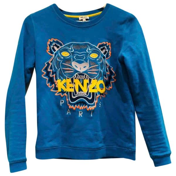 Kenzo Blue Cotton Knitwear