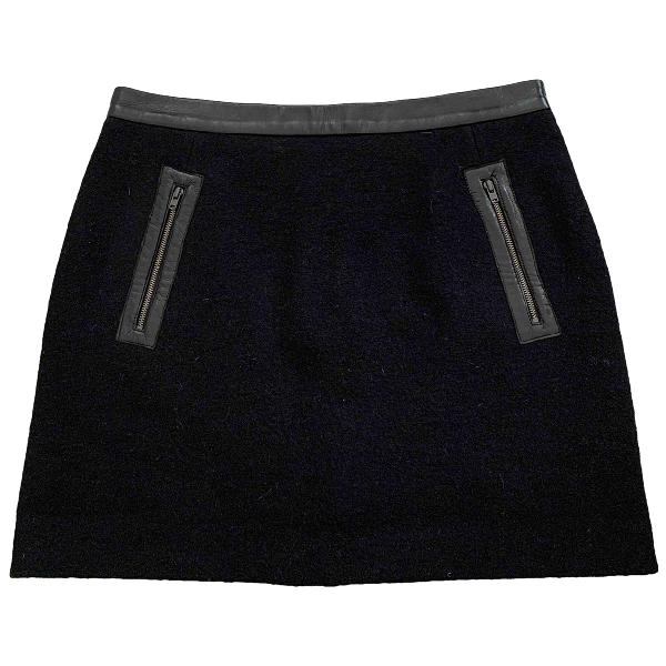 Sandro Black Wool Skirt