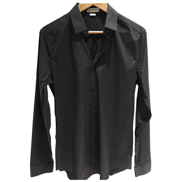 Balenciaga Black Cotton Shirts