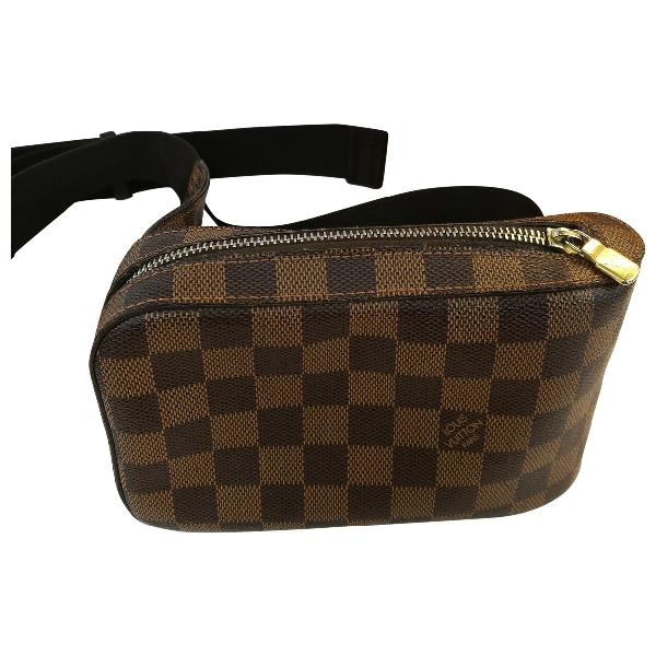 Louis Vuitton Geronimo Brown Cloth Bag