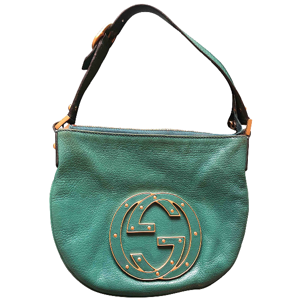 Gucci Green Leather Handbag