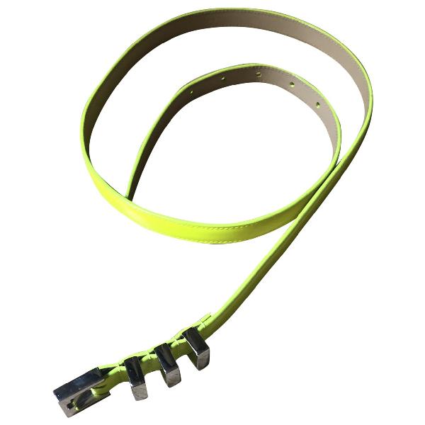 Saint Laurent Yellow Patent Leather Belt