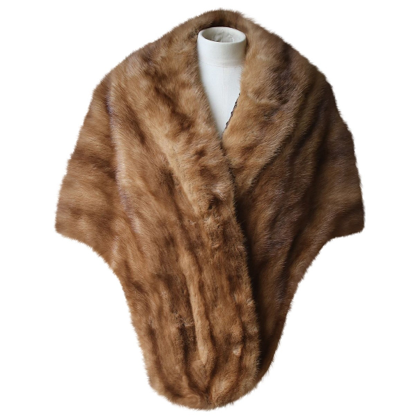 Miu Miu Brown Fur Scarf