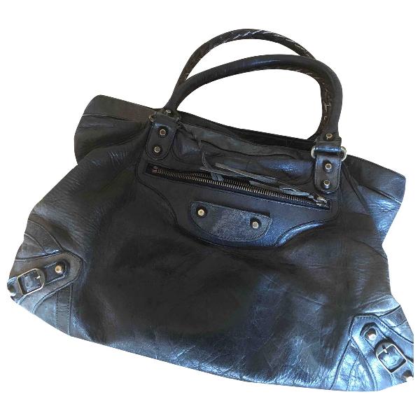Balenciaga City Black Leather Handbag