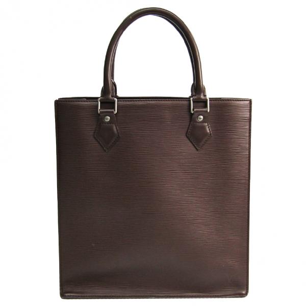 Louis Vuitton Plat Brown Leather Handbag