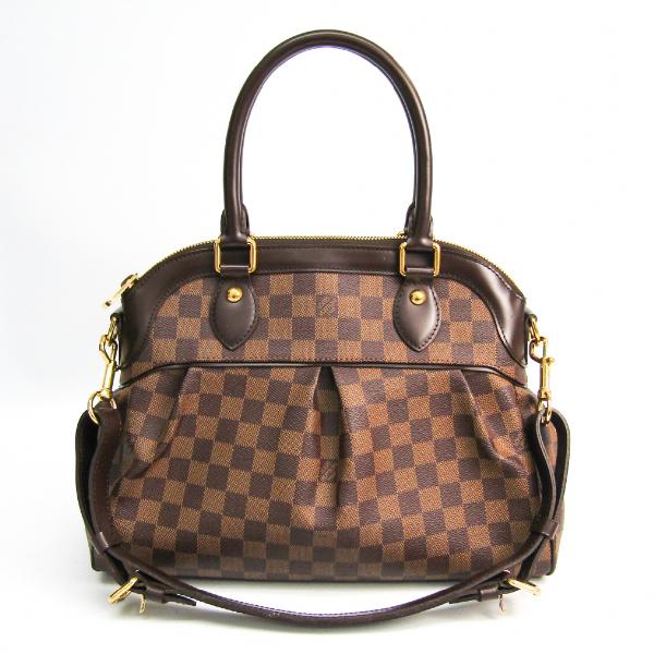 Louis Vuitton Trevi Brown Cloth Handbag