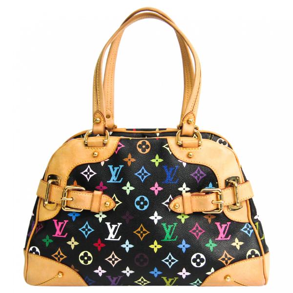 Louis Vuitton Black Cloth Handbag