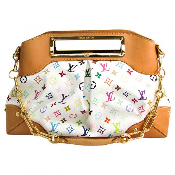 Louis Vuitton Judy White Cloth Handbag