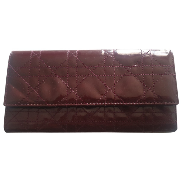 Dior Burgundy Patent Leather Wallet