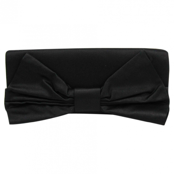 Valentino Garavani Black Cloth Clutch Bag