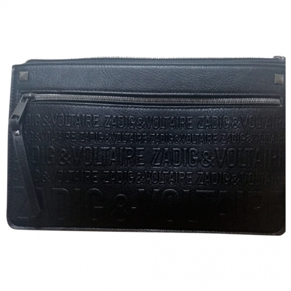 Zadig & Voltaire Daily Black Leather Clutch Bag