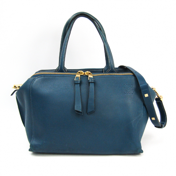 Loewe Blue Leather Handbag
