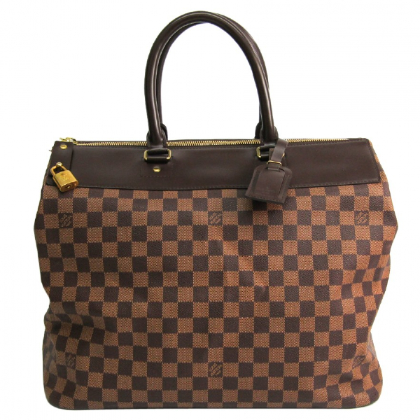 Louis Vuitton Brown Cloth Travel Bag