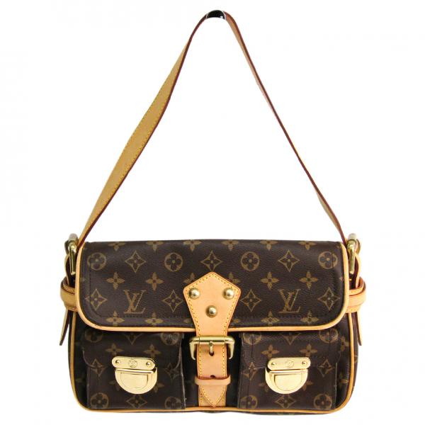 Louis Vuitton Hudson Brown Cloth Handbag
