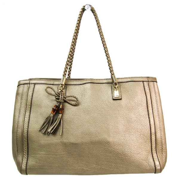 Gucci Gold Leather Handbag