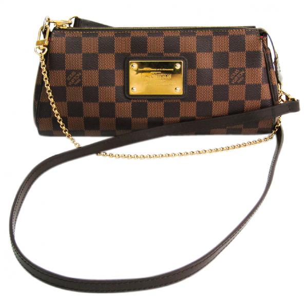 Louis Vuitton Eva Brown Cloth Handbag