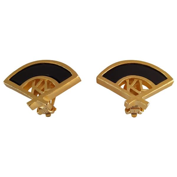 Karl Lagerfeld Gold Metal Earrings