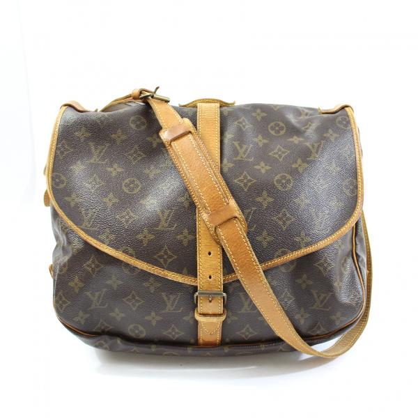 Louis Vuitton Saumur Brown Cloth Handbag