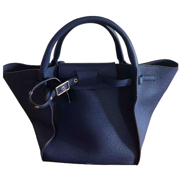 Celine Big Bag Blue Leather Handbag