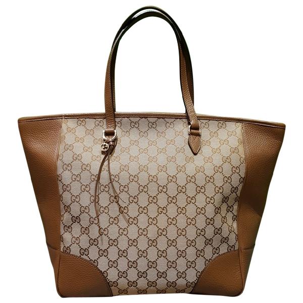 Gucci Brown Cloth Handbag
