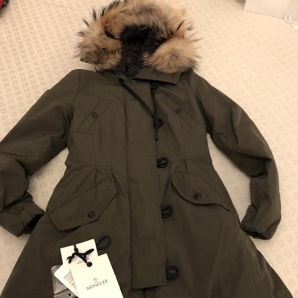 Moncler Fur Hood Khaki Coat