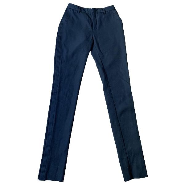 Saint Laurent Black Cotton Trousers