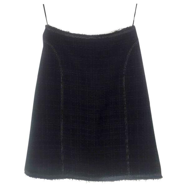 Chanel Black Cotton Skirt