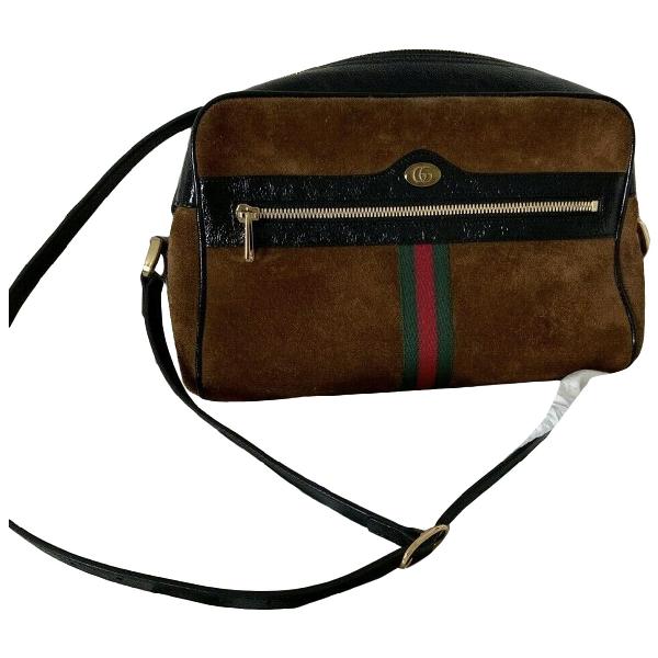 Gucci Ophidia Brown Suede Handbag