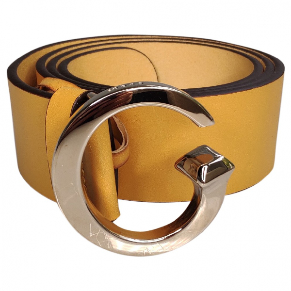 Gucci Yellow Leather Belt