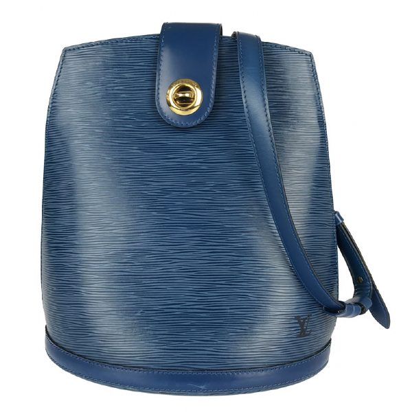 Louis Vuitton Cluny Blue Leather Handbag