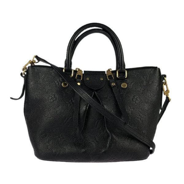 Louis Vuitton Mazarine Black Leather Handbag